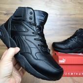 Зимние кроссовки высокие Pyma Trinomic black