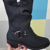 Hush Puppies новые кожаные размер 37 24, 5 см сапоги
