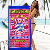 Пляжное полотенце Бавария Мюнхен 70*140 см микрофибра (2277)