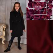 Кашемировое пальто оксворд цвет марасала ТМ Deffchonki