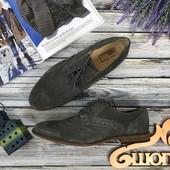 Мужские туфли из замши  SH3999