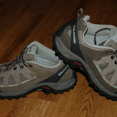 Кожаные кроссовки 38 р Salomon Contagrip отличное состояние