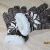 Перчатки мужские трикотажные на меху