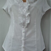 Фирменная модная белая блузка Orsay с рюшами