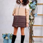 Размеры 44-4 Теплая зимняя женская куртка с натуральным мехом