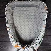 Крутейшая расцветка этой осени кокон гнездышко для новорожденного малыша