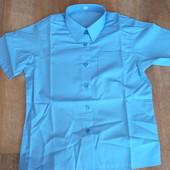Блузка, рубашка (короткий рукав) в школу для девочки, Marks & Spencer  128р