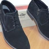 Демисезонные ботинки ed-ge brothers 40-45р кожа и замша