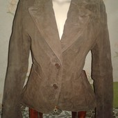 Кожаный женский пиджак. Бренд Pescara. Размер 48