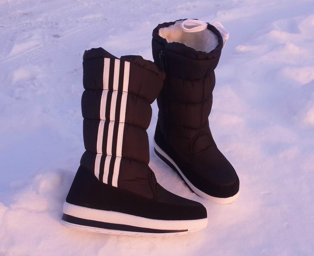 Зимние женские сапоги твикс adidas (адидас) 36,37,38,39,40,41, дутики, женские, зимние, фото №1