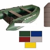 Лодка надувная моторная Kolibri КМ-300DL цветная или комбинированная и слань книжка