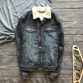 Мужская утеплённая джинсовка джинсовая куртка р-р С