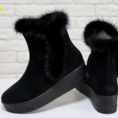 Новинка!!!! деми/зима ботинки натуральная замша / кожа код:ДЖ  Б-17123