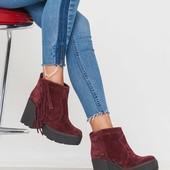Стильные ботинки Кожа Бахрома