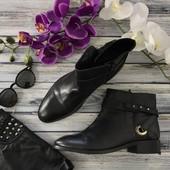Базовые кожаные ботинки Asos с блестящей фурнитурой и пряжками  SH4036