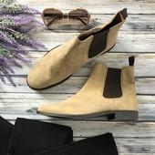 Мужские ботинки-челси Asos из натуральной замши светлого оттенка  SH4051