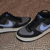 замша кроссовки Nike Air оригинал 24 см стелька отл сост! 37 размер