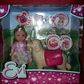 Кукольный набор Simba Эви Няня для щенков с аксессуарами 5733072 Симба