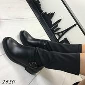 Женские демисезонные ботинки полусапожки чулок