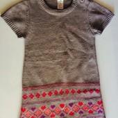вязанное платье 4-6 лет