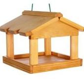 Деревянная кормушка для птиц домик Годiвничка 26х24,5х21см Руди Д393у дерево