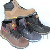 Зимние мужские ботинки, кожа, 4 цвета
