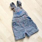 Комбинезон шорты джинсовые Next 2 года