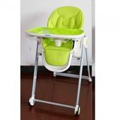 Мун 3550 стульчик для кормления высокий детский Moon с кожаным сиденьем