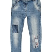 джинсы-бойфренды с зайцем Некст р.92