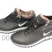 Мужские зимние кожаные кроссовки Т24\1 и Т24\2