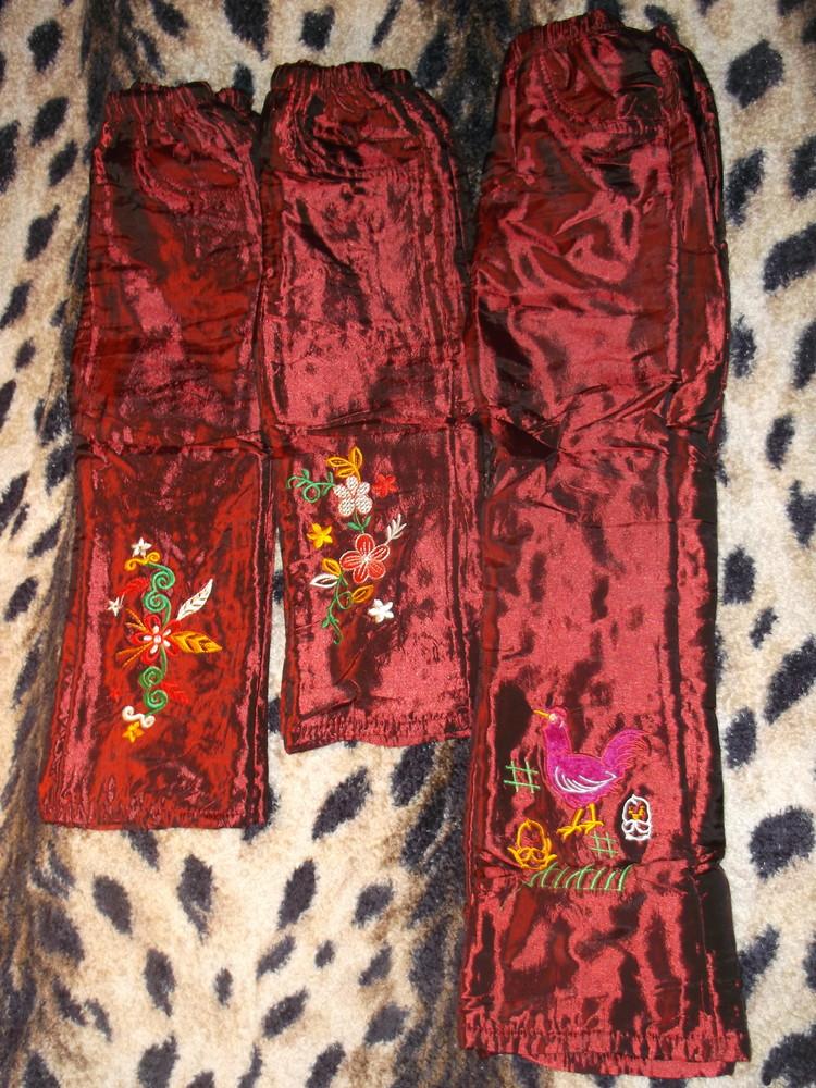 Штаны на флисе и сентепоне зима. для девочек с 1.5-2 год. до 9 лет. фото №1