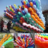 шарики надувные латексные спираль завитушка размер до 1,5м