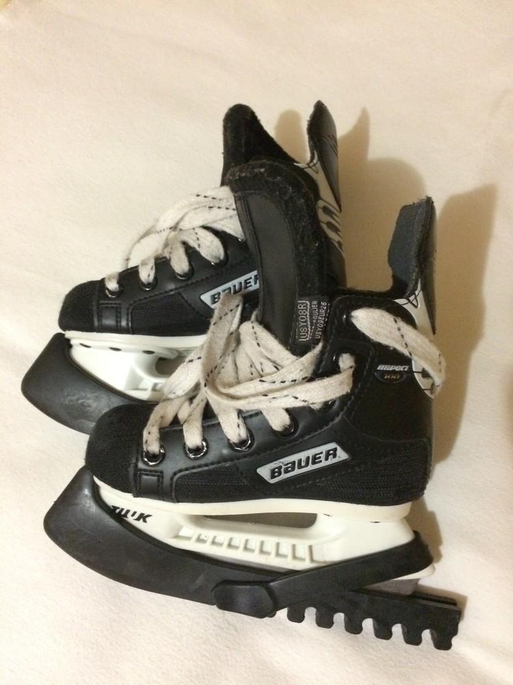 Детские хоккейные коньки Bauer 16 см фото №1