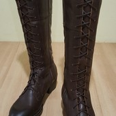 Оригинальные кожаные сапоги Next 38р-24-25см-uk5