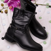 Стильные женские ботинки без каблука