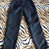 Теплые штаны на флисе для девочки на 7 - 8 лет