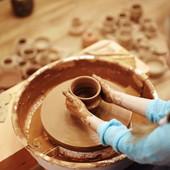 Глина для детского творчества 3кг, глина для лепки с детьми, красная глина, гончарная