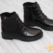 Ботинки женские кожа, зима, наличие 36