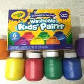 Смываемые пальчиковые краски Crayola (оригинал)