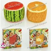 Мягкий надувной стул пуфик Fruit pouf, съемный тканевый чехол легко стирается, нагрузка до 50 кг