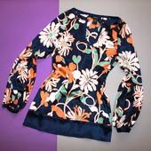 Шелковая блуза/блузка S-M
