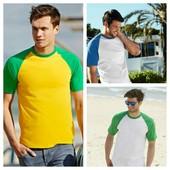 Мужская футболка двухцветная
