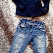 Модный пиджак темно синего цвета от Anne L. Размер 38. Состояние отличное, без дефектов. Замеры: пл