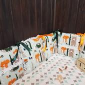 Лесная сказка, набор бортиков для новорожденных