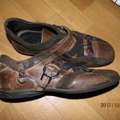(i272)фирменные кожаные кроссовки 43 р Exton Италия
