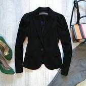 Черный жакет с интересным рукавом Zara Basic (ХХС)