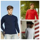 Мужская футболка с длинным рукавом, лонгслив. Выбор цвета. 100% хлопок