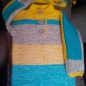 Детский вязаный свитер ручной работы, новый