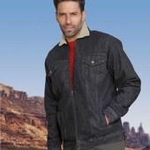 Теплая джинсовая куртка на меху Atlas for men Германия