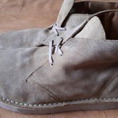 Замшевые ботинки Clarks оригинал р.46-29.5см.